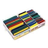 VEFSU 485 Pcs Heat Shrink Tubing Tube Assortment Wire Cable Insulation Sleeving Kit