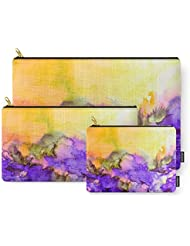 Society6 INTO ETERNITY, YELLOW AND LAVENDER PURPLE Colorful Watercolor Painting Abstract Art Floral Landscape...