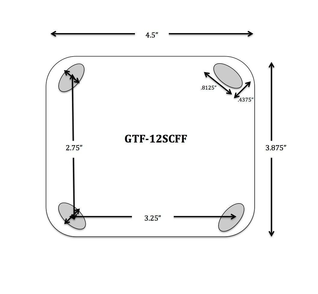 Gravel Tuff GTF-12SCFF 12 Swivel Flat Free Caster