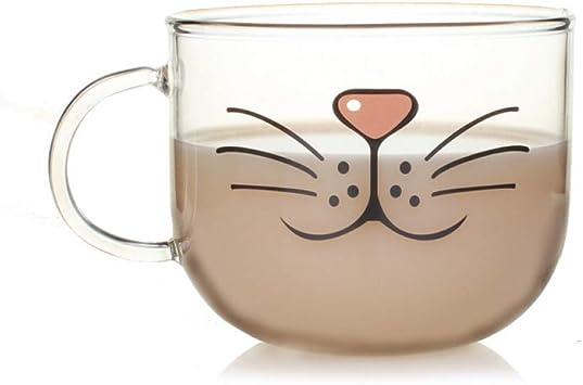 Jeffyo Dessous-de-verre Motif chat mignon Dessin anim/é de chat Verre Silicone Caf/é Drink Cup Set de table Boisson Pot Pan support Pad de cuisine Fournitures