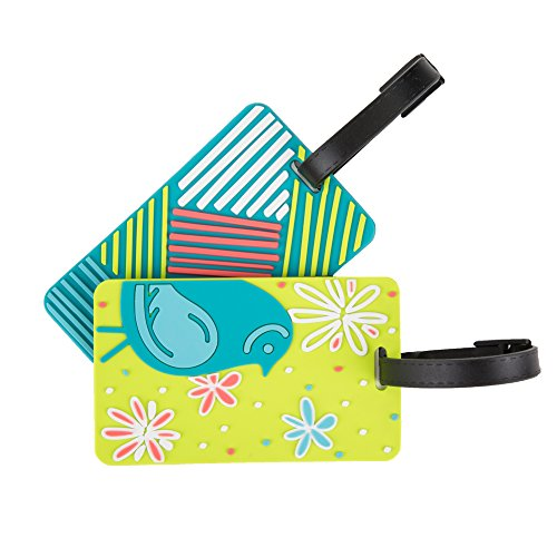Travelon Set of 2 Luggage Tags, (Retro Luggage Tag)
