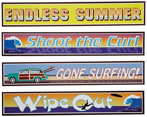 Surfer Street Sign Cutouts Pkg