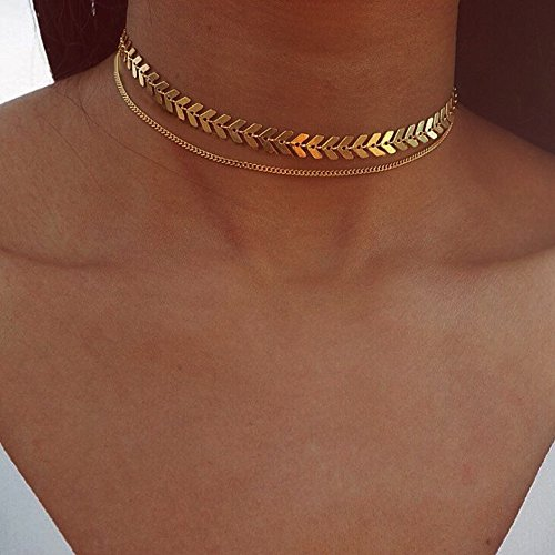 Gbell Clearance! Lucky Fish Bone Chain Necklace Charm - Long Dangle Necklace Chain Jewelry Gifts for Girls Women (Gold)