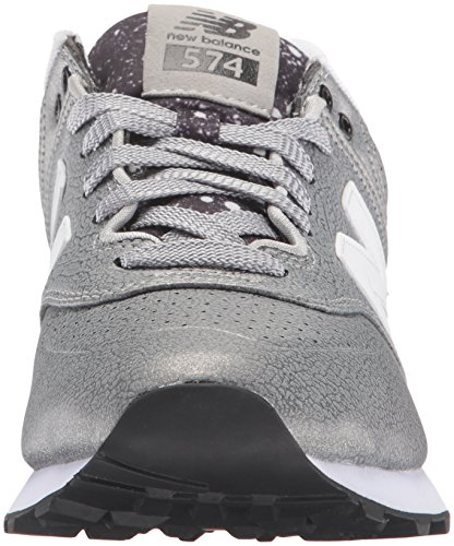 New Sneaker Donna Black Silver 574 Balance Argento UwCqF