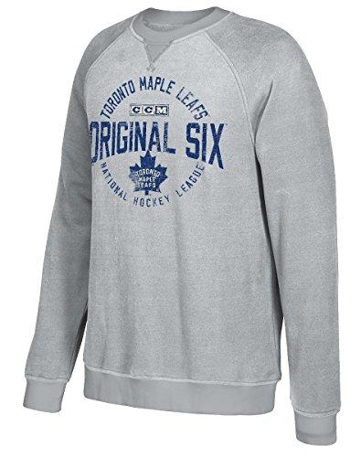 adidas NHL Toronto Maple Leafs Classic Six Fleece Crew Shirt, Large, ()