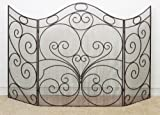 Extra Large 66'' Curved Iron Firescreen | Metal Fireplace Screen