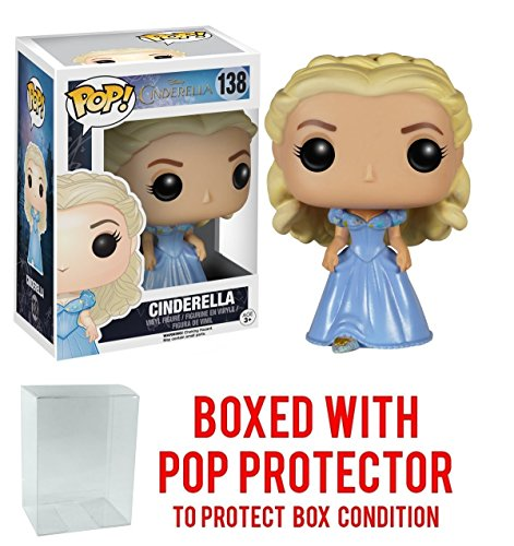 Funko Pop! Disney: Cinderella (Live Action) - Cinderella Vinyl Figure (Bundled with Pop BOX PROTECTOR CASE)