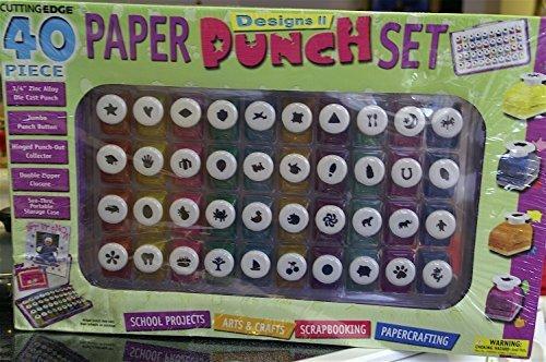 Cutting Edge 40 Piece Paper Punch Set