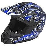 Raider Wildfire Mx Helmet Blue Small