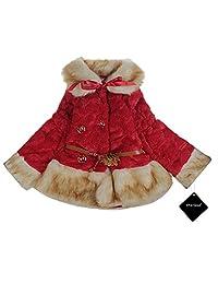 xhorizon TM SR1 Baby Girl Kids Toddler Fleeced Warm Winter Faux Fur Lace Jacket Coat Age 1-5 Years Gift