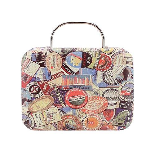 - KICODE Retro Europe Mini Suitcase Candy Box Snack Vintage Storage Gift Case Sugar Coffee Tea
