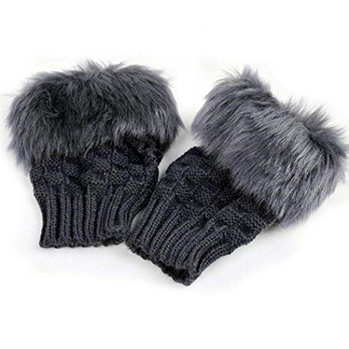 Warm Rabbit - Youcoco Women Winter Rabbit Gloves Arm Warmer Fingerless Wrist Gloves