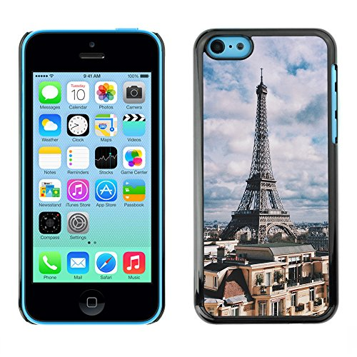 Premio Sottile Slim Cassa Custodia Case Cover Shell // F00017322 tour Eiffel // Apple iPhone 5C