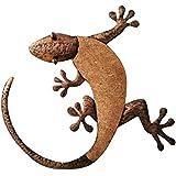 "Comfy Hour 16"" Brown Copper Metal Art Gecko Wall Decor"