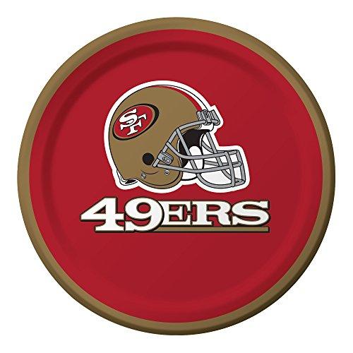 Creative Converting 96-Count  San Francisco 49ers  Paper Dessert Plates
