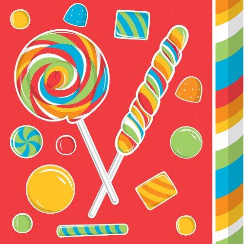 [Creative Converting Sugar Buzz Beverage Napkins, 16 Count] (Gumdrop Costume Ideas)