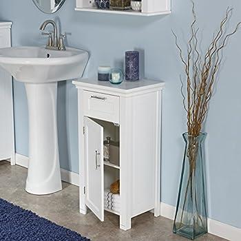 RiverRidge Home Somerset 1 Door Floor Cabinet, White