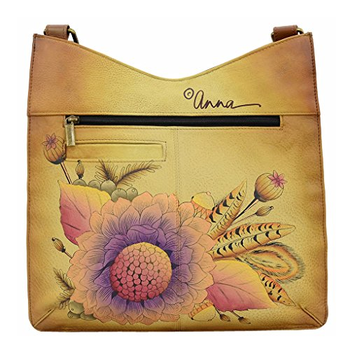 Anna Handbag Rustic Purse amp; Painted Top by Hobo Leather Anuschka V Hand Bouquet Bundle Shoulder Holder 0x4rq0wz