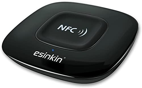 Esinkin Bluetooth Receiver Wireless Audio Adapter 4.0 NFC-Enabled for HD Music Stereo Sound System