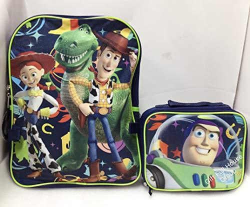 Disney Pixar TOY Story Boys School Backpack Lunch Box Combo Set Green Kids New