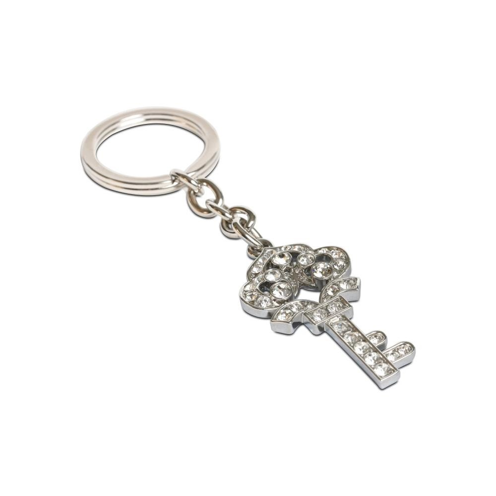 Clear Crystal Crown Key Keychain Color