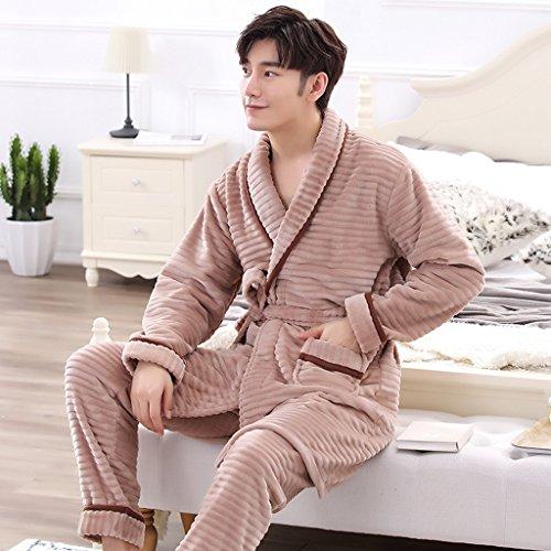 B Autunno Stagione Lady Home caldo Pigiama GAOLILI Inverno Sleep Robe Abbigliamento Ispessimento Set 4HwSfqO7