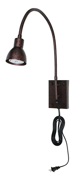 cal lighting bo119ru gooseneck sconce with no shades rust finish