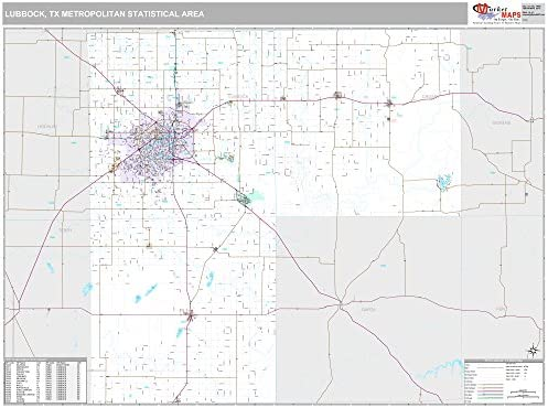 Amazon Com Marketmaps Lubbock Tx Metro Area Wall Map 2018 Zip