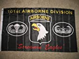 Black Army 101st Airborne Division Screamin Eagles 3 x 5 3×5 Flag Banner Indoor/Outdoor