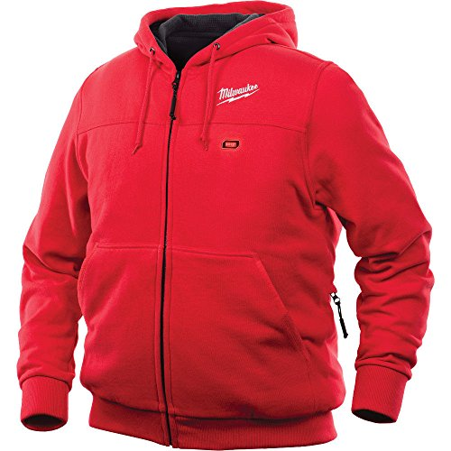 Milwaukee Hoodie M12 12V Lithium-Ion Heated Jacket Front and Back Heat Zones All Sizes and Colors - Battery Not Included - (Large, Red)
