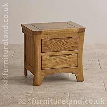 Orrick Rustic Solid Oak Bedside Table Amazon Co Uk Kitchen Home