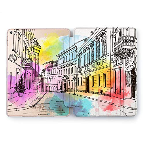 (Wonder Wild Colored City iPad Case 9.7 Pro inch Mini 1 2 3 4 Air 2 10.5 12.9 2018 2017 Design 5th 6th Gen Clear Print Smart Hard Cover Traveling)