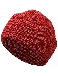 Muuttaa Winter Warm Soft Folded Brim Knitted Beanie Hat for Men and Women