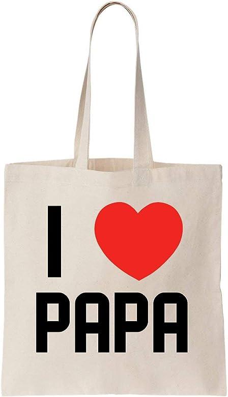 KRISSY I Love Papa Algodón Bag Tote Bag: Amazon.es: Zapatos y ...