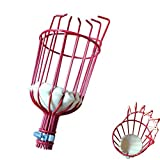 Enshey Fruit Picker Tool Basket––Fruit Collection Garden Harvesting Ideal for Picking Oranges, Apples (Head Only, Pole Not Included)