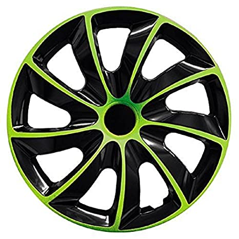 PARA Nissan 15 pulgadas tapacubos/Tapacubos QUAD verde 15 negro black verde