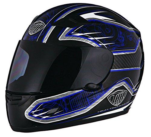 Thh Full Face - THH TS-39 Motor Helmet Black and Blue 2X-Large