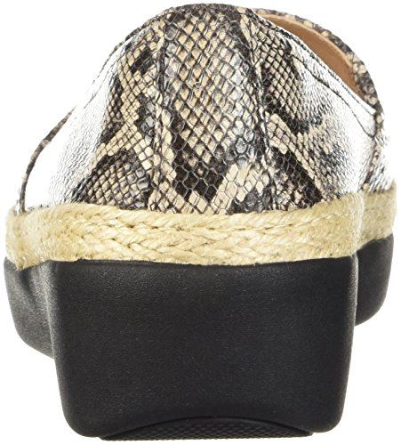 FitFlop K91 Casa Taupe Snake Womens Loafers wOvq78wF