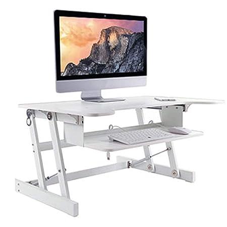 QQAA Escritorio Plegable de Aluminio para Ordenador portátil ...