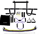 Iron Fitness Door Pull-Up Gym Black Extreme Edition with 7 Latex Resistance Bands 8 & O shaped Bands included NEW