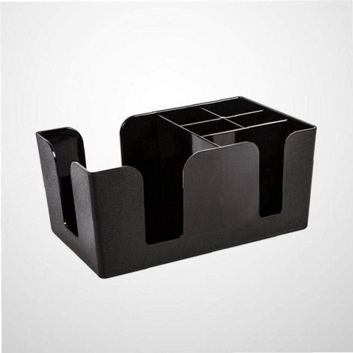 Tissue Box Strohhalme Halter Multifunktions Schwarz Kunststoff Organizer Lagerregal Box f/ür Bar Home KTV Tea Shop
