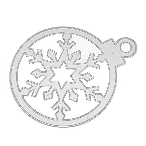 Pausseo Steel Metal Cutting Dies Stencils Scrapbooking Merry Christmas Embossing DIY Cuts Card Making Album Decorative Christmas Bell Series Stencils Xmas Scrapbooking Embossing PaperCard Crafts (C)