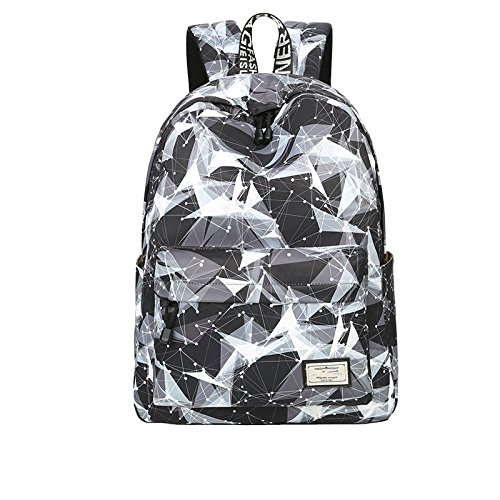 Teecho Girls Waterproof School Backpack Fashion 15.6