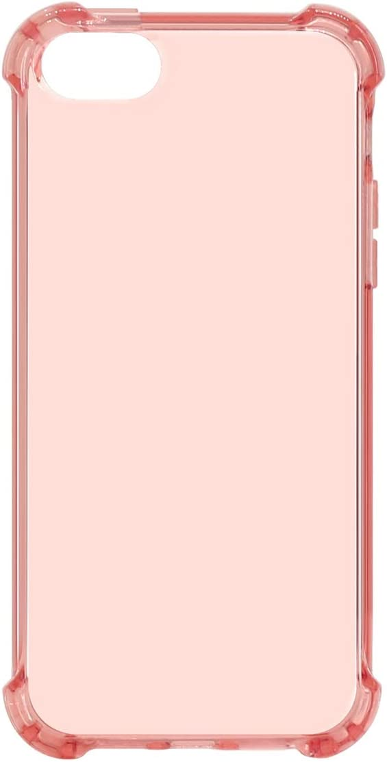 MUNDULEA Case iPhone SE (2016 Edition)/iPhone 5s/ipphone 5 Crystal Protection Clear Shock Absorption Technology Bumper Soft TPU Cover Compatible iPhone 5s Case (Rose Gold)