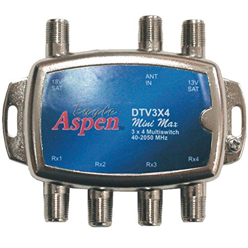- Eagle Aspen(R) DTV3X4 DIRECTV(R)-Approved 3-In x 4-Out Multiswitch
