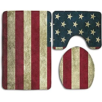 Amazon Com Door Mat Vintage Flag Of American Stars And