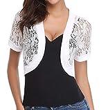 Bolero Shrugs Lace Sheer for Women Evening Dresses Short Sleeve Crochet Patterns
