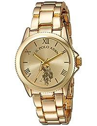 U.S. Polo Assn. Reloj casual de cuarzo para mujer, de metal y aleación, color: dorado (modelo: USC40043)