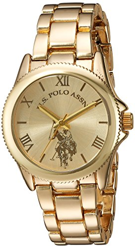 U.S. Polo Assn. Women's Analog-Quartz Watch with Alloy Strap, Gold, 7 (Model: USC40043)