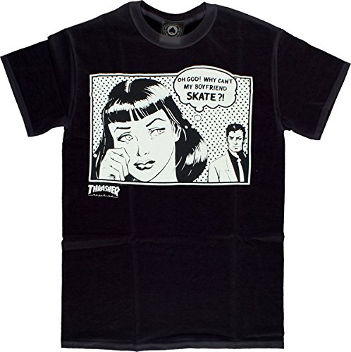 65a6c6219 Thrasher Boyfriend Short Sleeve L-Black T-Shirt | Amazon.com